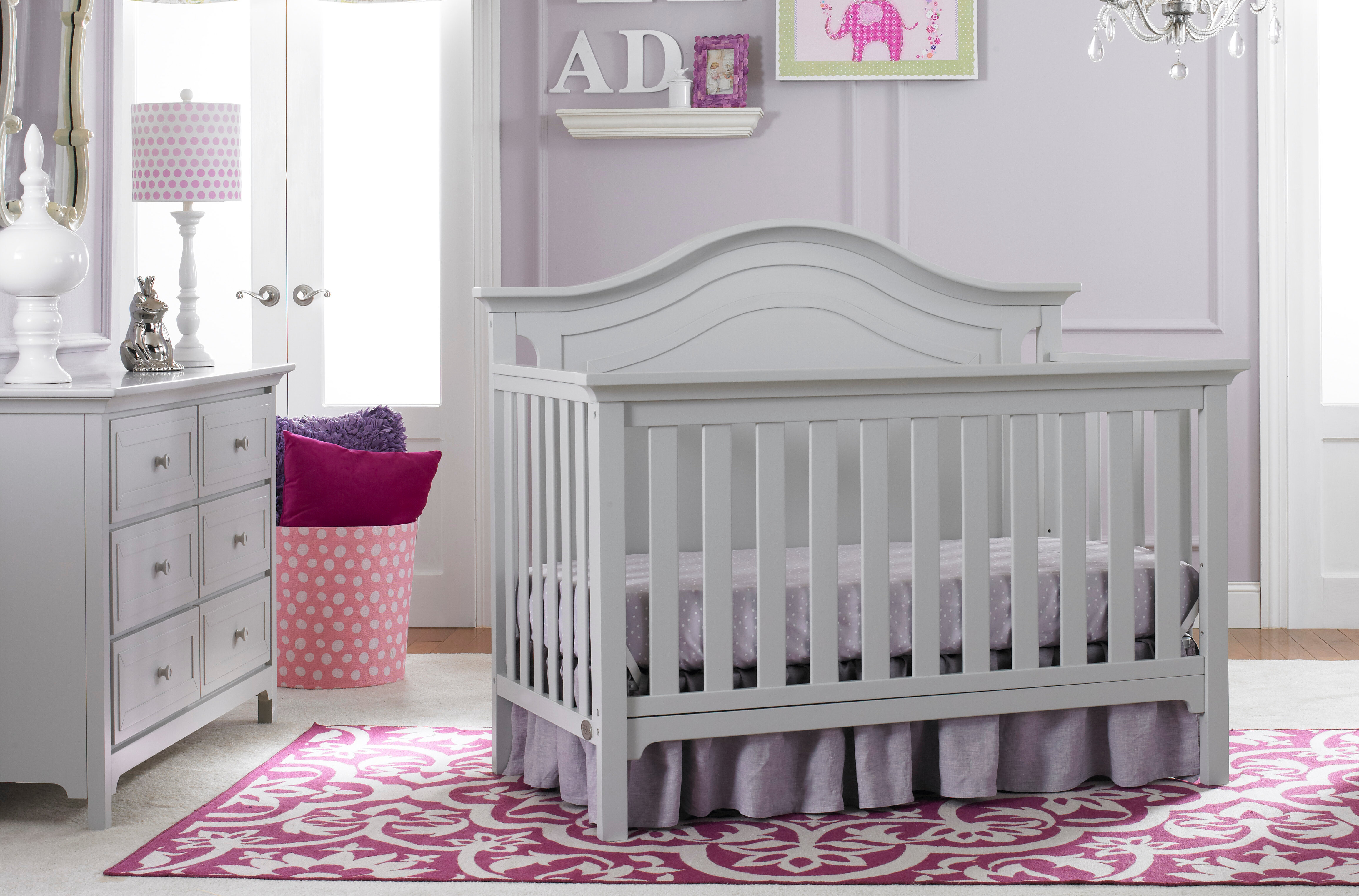 Catania 5 In 1 Convertible Standard 2 Piece Nursery Furniture Set