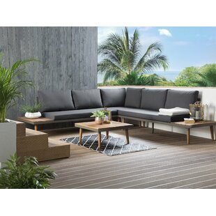 Blasko Outdoor 13 Piece Sectional Seating Group with Cushions by Ivy Bronx