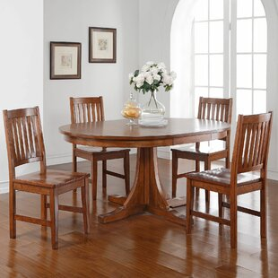 Fort Kent 5 Piece Solid Wood Dining Set b..
