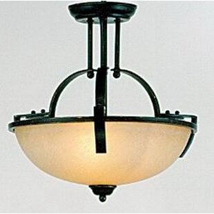 Sickels 2-Light Semi Flush Mount by Charlton Home