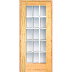 Wood 1 Panel Natural Interior French Door