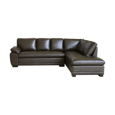 Barnard Leather Right Hand facing Sectional by Darby Home Co