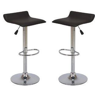 Winkler Adjustable Height Swivel Bar Stool (Set of 2) by Orren Ellis