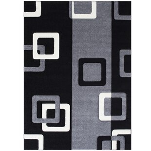 Read Reviews Gray/Black Area Rug By AllStar Rugs