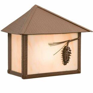 Steel Partners Ponderosa Pine 1-Light Outdoor Flush Mount