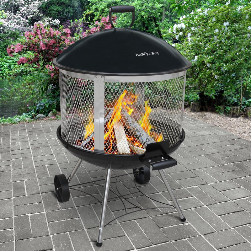 Landmann Heatwave Cast Iron Wood Burning Fire Pit Reviews Wayfair