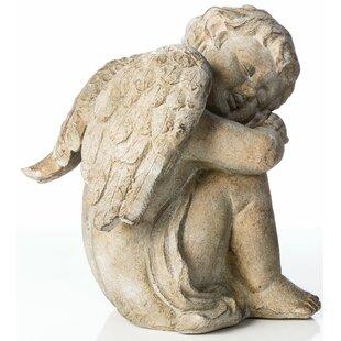 Alfresco Home Sleepy Cherub Statue