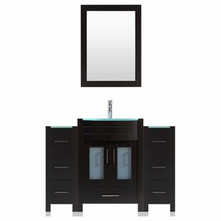 Clearance Peterman Modern 60 Single Bathroom Vanity Set with Mirror By Orren Ellis