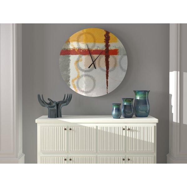 Ebern Designs Trustworthy Absolute Abstract Wall Clock Wayfair