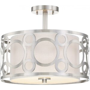 Sergent 2-Light Semi Flush Light