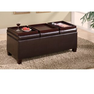 Iglesias Versatile Leather Storage Ottoman by Winston Porter