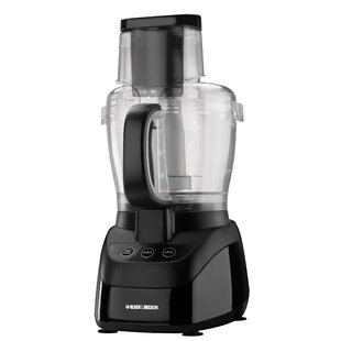 10-Cup Wide-Mouth Food Processor in Black