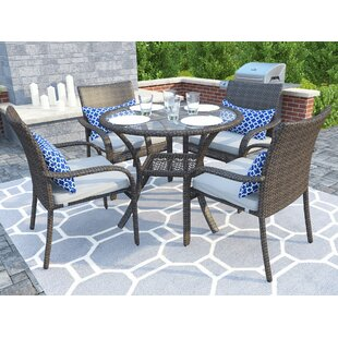 Bennington 5 Piece Dining Set with Cushions