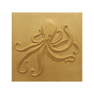 Carved Wood Octopus Wall Decor