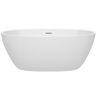 Read Reviews Juno 59 x 32 Freestanding Soaking Bathtub ByWyndham Collection