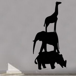 Maryam Giraffe Elephant Animal Nursery Wall Sticker