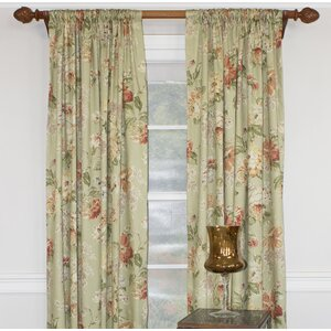 Cherryville Floral Room Darkening Single Curtain Panel