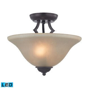 Burzdak 2-Light LED Semi Flush..