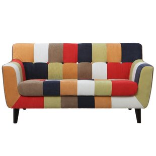 Gerold Checkered Loveseat by Wrought Studio