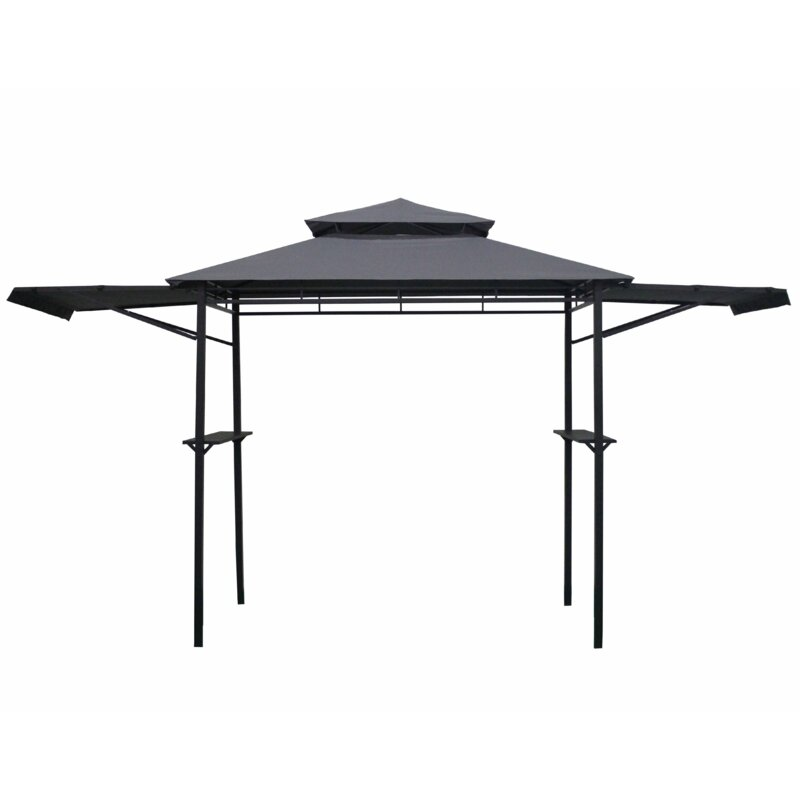 1. Go 7.2' X 3.7' Outdoor Grill Gazebo with Canopy Steel Frame