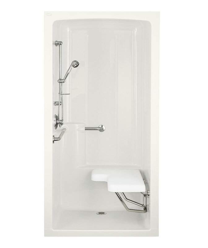 ideas shower and floating spaces stainless for wall seat stall handle one saving steel piece with stalls small