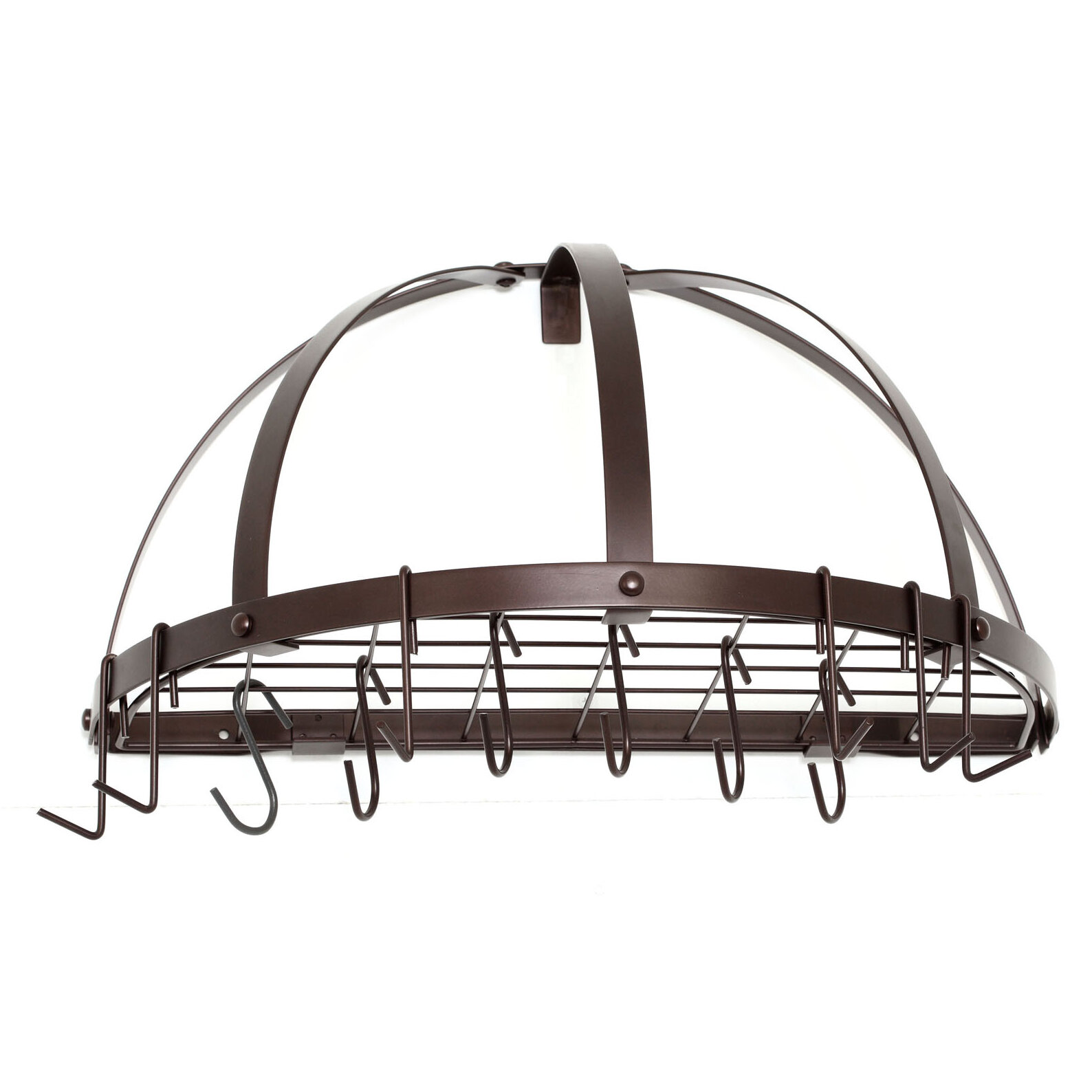 functional racks grape crafted fixtures lights copper with pot the rack hand