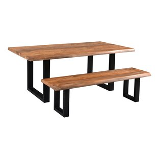 Union Rustic Yost Solid Wood Dining Table