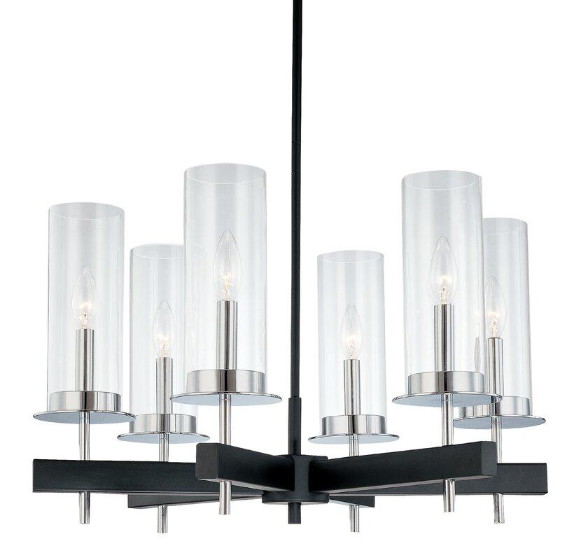 default_name - Sonneman Tuxedo 6-Light Candle-Style Chandelier & Reviews Wayfair