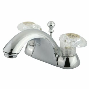 Elements of Design St. Charles Centerset Bathroom Faucet with Push Tilt Handle
