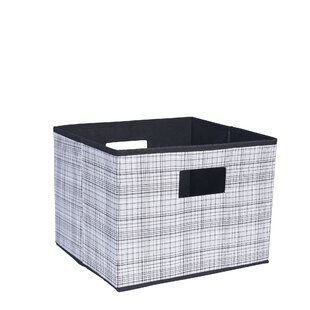 Comparison Deluxe Open Storage Bin with Cutout Handles ByHousehold Essentials
