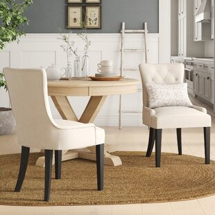Grandview Upholstered Dining Chair (Set Of 2) by Birch Lane™ Heritage Looking fort