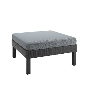 Woolwich Patio Ottoman with Cushion by Wrought Studio