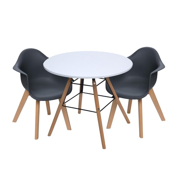 Rebello Kids 3 Piece Writing Table And Chair Set