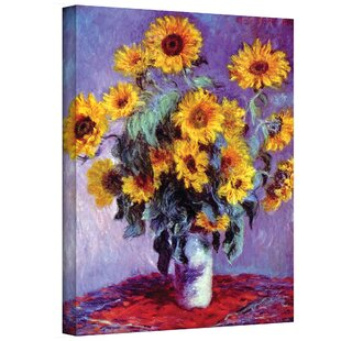 U0027Sunflowersu0027 By Claude Monet Painting Print On Canvas