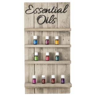 Ackerman Essential Oils Display Wall Shelf with Script