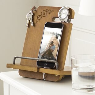 Price comparison Newport Personalized Steampunk Wooden Docking Station by Red Barrel Studio