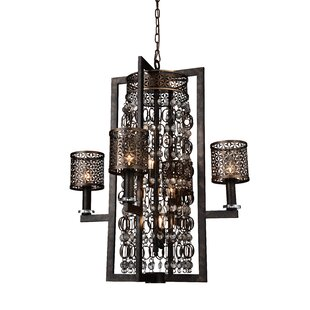 CWI Lighting Pollett 8-Light Shaded Chandelier
