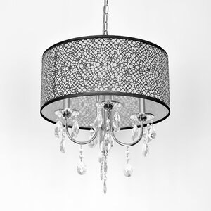 Darshan 4-Light Crystal Chandelier