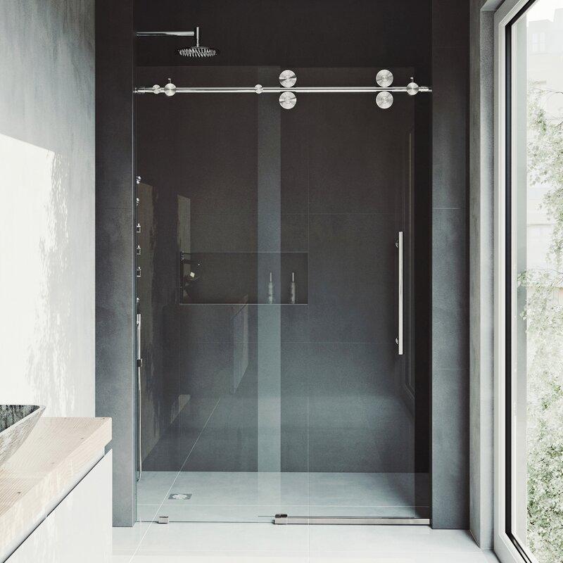 Elan 56 X 74 Single Sliding Semi Frameless Shower Door