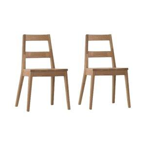 2-tlg. Esszimmerstuhl-Set Warden aus Massivholz von Urban Facettes