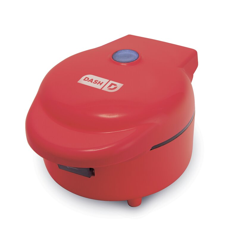 DASH  Deluxe Waffle Bowl Maker  Color: Red