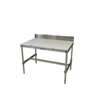 Aluminum I Frame Prep Table with Back Splash and Poly Top PVIFS