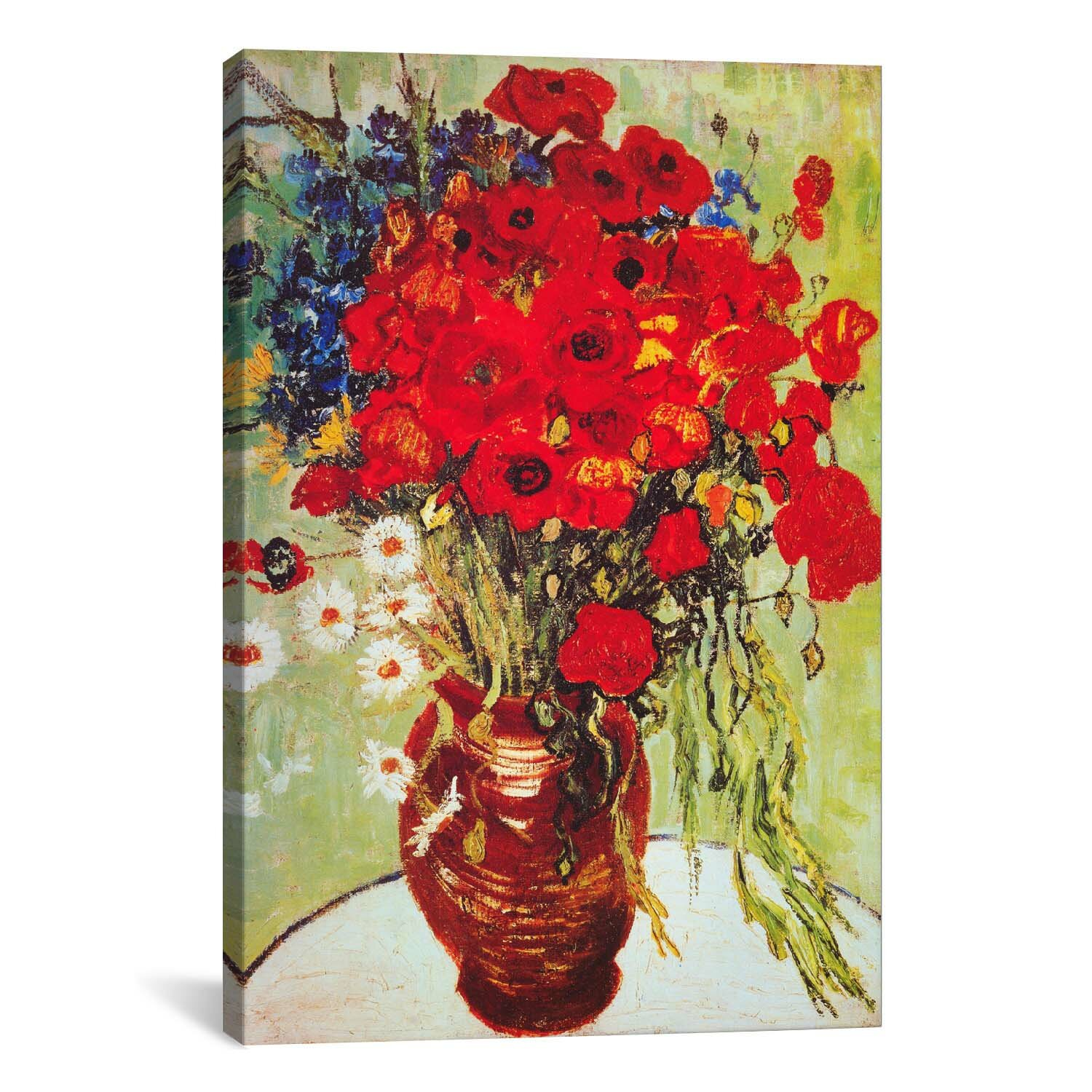 Vase with daisies and poppies by vincent van gogh graphic art vase with daisies and poppies by vincent van gogh graphic art print reviews joss main reviewsmspy