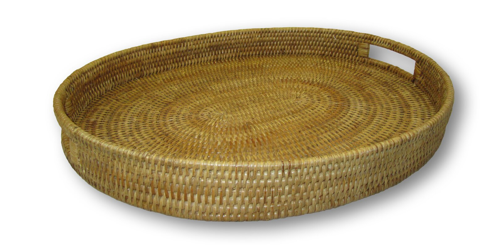 Awesome Rattan Oval Tray With Cutout Handles Ideas