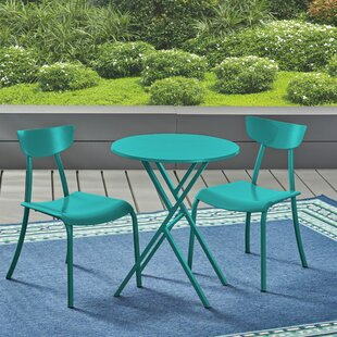 Ebern Designs Harrod 3 Piece Iron Bistro Set