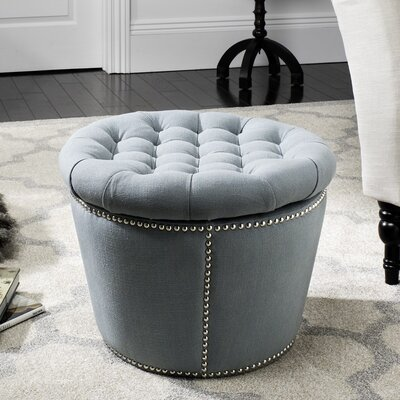 Peachy Safavieh Andrew Storage Ottoman Gmtry Best Dining Table And Chair Ideas Images Gmtryco