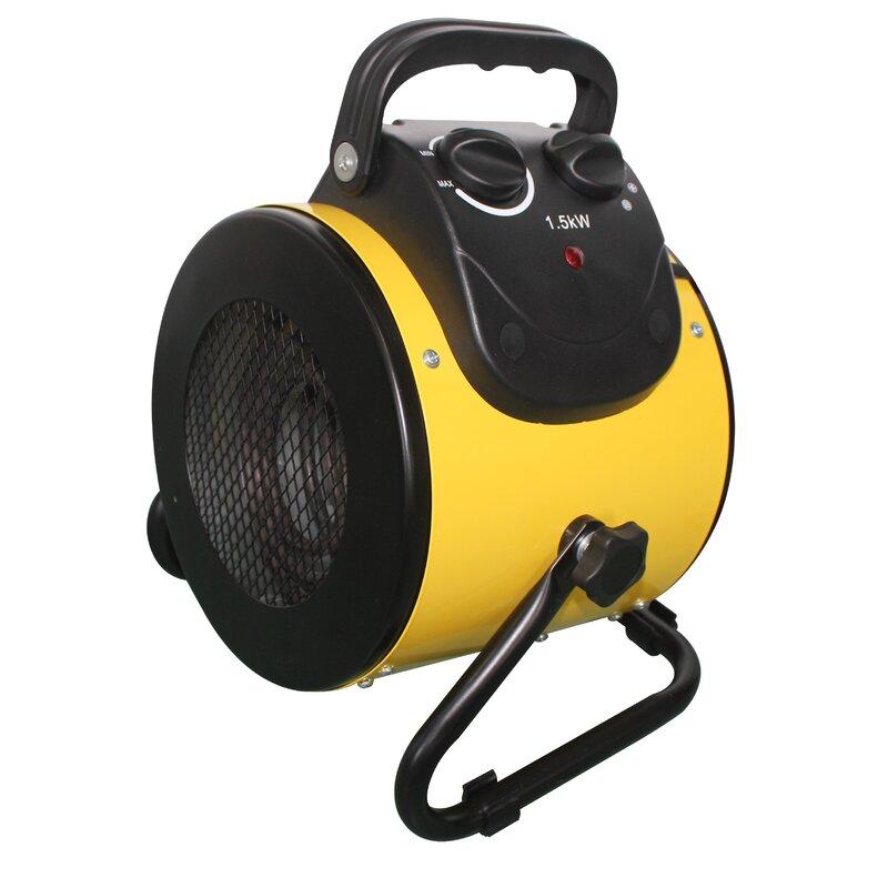 AZ Patio Heaters 1,500 Watt Electric Fan Compact Heater   Wayfair