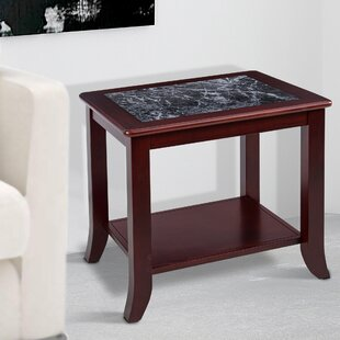 Sturgill Marble Top End Table by Red Barrel Studio