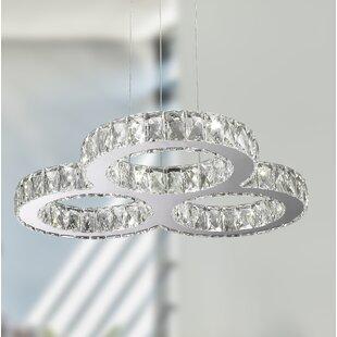 Leiter 18-Light LED Crystal Chandelier by Orren Ellis