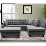 Arleena 102'' Right Hand Facing Modular Sofa & Chaise Sectional with Ottoman by Latitude Run